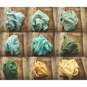 "the WRAP - Cheesecloth Wrap - 64-66""inches - newborn wrap - Pick 5"