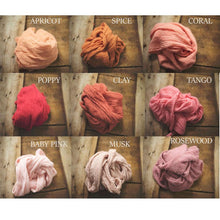 "Load image into Gallery viewer, the WRAP(long) - Rustic Cheesecloth Wrap - 99-102""inches - newborn wrap - Pick 4"
