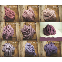 "Load image into Gallery viewer, the WRAP - Rustic Cheesecloth Wrap - 99-102""inches - newborn wrap - Pick 3"