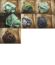 "Load image into Gallery viewer, the WRAP(long) - Rustic Cheesecloth Wrap - 99-102""inches - newborn wrap - Pick 6"