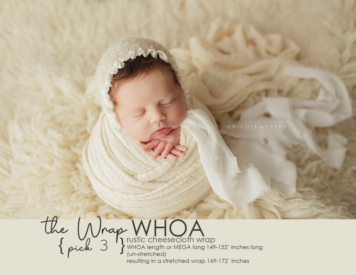 the WRAP -WHOA Mega LONG- Rustic Cheesecloth Wrap - 149-152