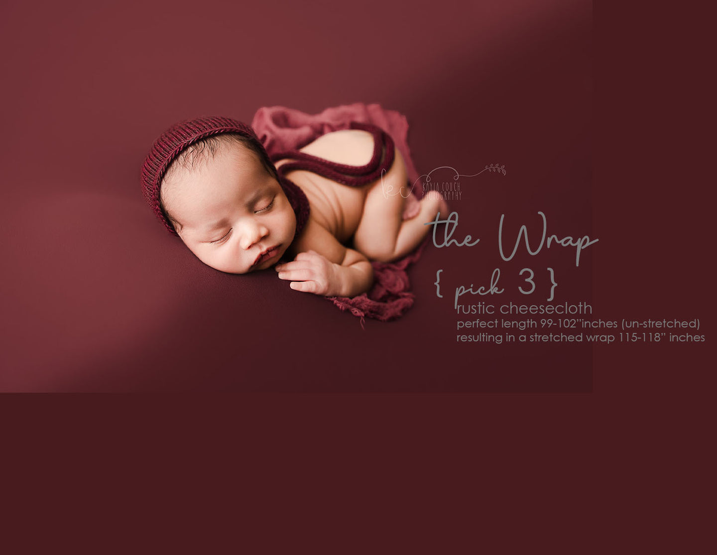 the WRAP - Rustic Cheesecloth Wrap - 99-102