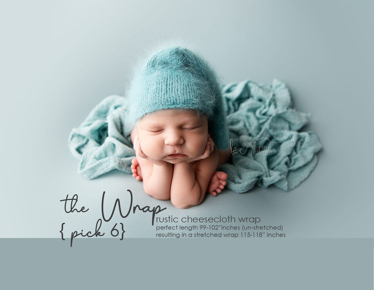 the WRAP(long) - Rustic Cheesecloth Wrap - 99-102