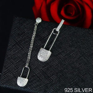 Asymmetric Sparkling Pin Earrings