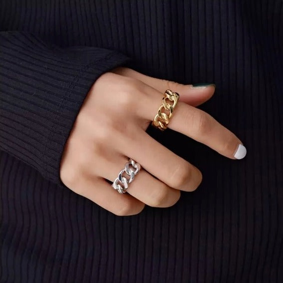 Trendy Chunky Chain Ring