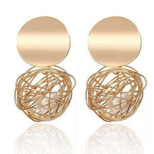 Geometric Hollow Statement Earrings