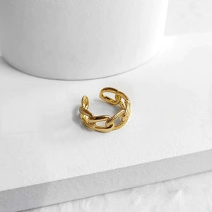 Resizable Trendy Chunky Textured Ring
