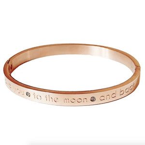 Luxe Rose Gold Plated Bangle