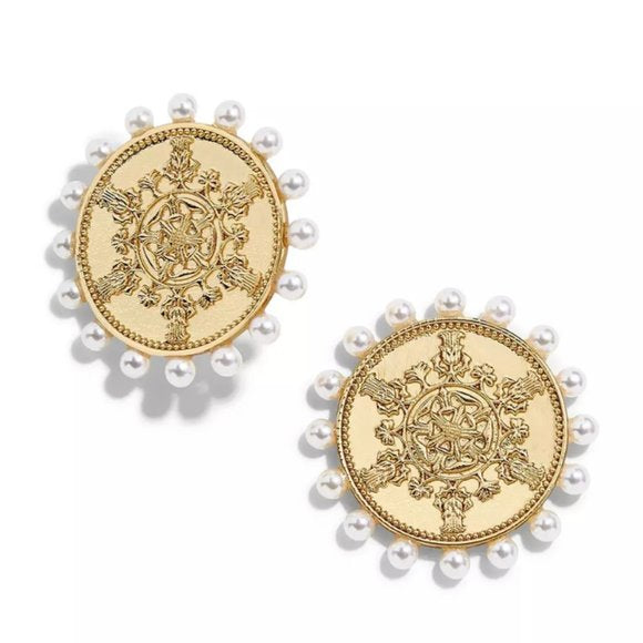 Chic Coin Stud Earrings
