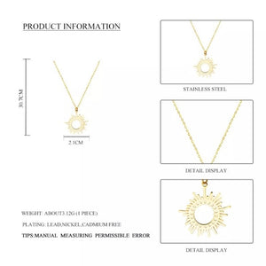 Gold-plated Sunshine Pendant Necklace