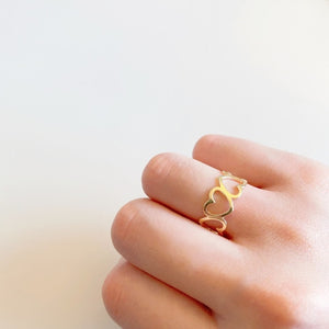 Heart Shape Hollow Ring