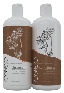 CREO Professional Cleanser and Conditioner for Medium/Coarse/Curly Hair