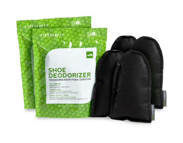 Bamboo Charcoal Shoe Deodorizer - 2 and 4 pack bamboo deodorizer 2 pack - SHOO-FOO, the softness of bamboo