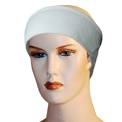Bamboo Makeup Headband Bamboo Bath Linens white / 2 Spa Head Bands - SHOO-FOO, the softness of bamboo