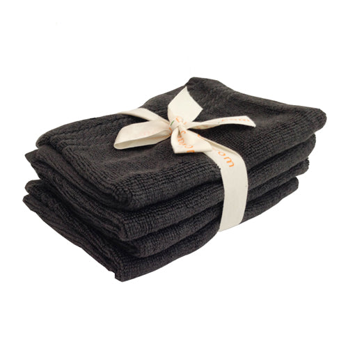 Charcoal Bamboo Bath Mitts - Bundle of 4 Bamboo Bath Linens 1 bundle - SHOO-FOO, the softness of bamboo