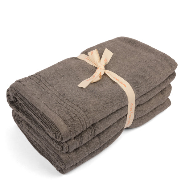 Bamboo Charcoal Bath Towels Bundle - Pack of 2