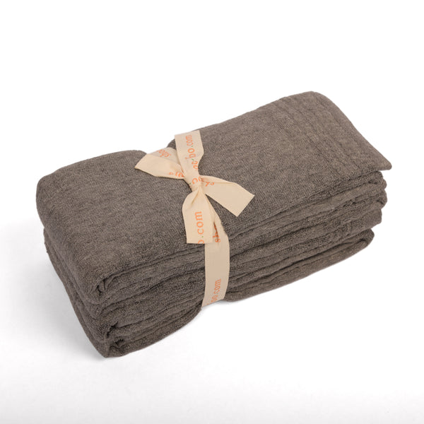 Bundle of 4 Bamboo Charcoal Hand Towels Bamboo Bath Linens 2 bundles - SHOO-FOO, the softness of bamboo
