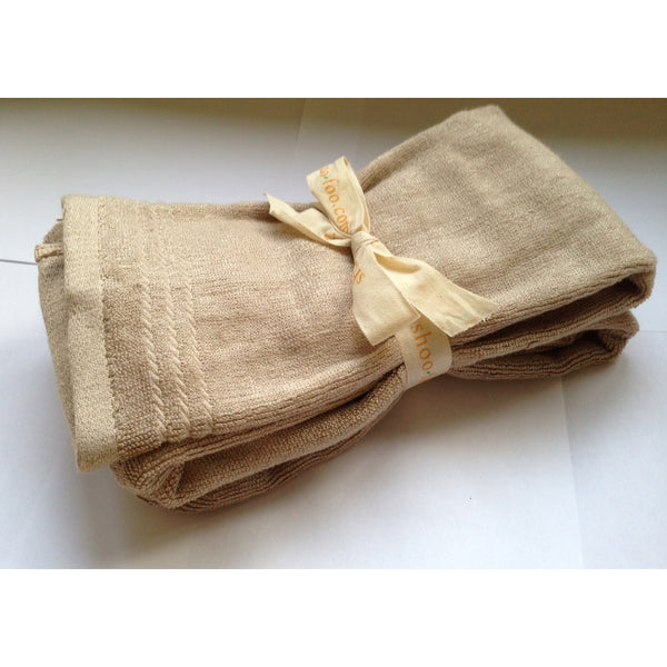 Bundle of 2 Bamboo Hand Towels Bamboo Bath Linens latte brown / 4 bundles - SHOO-FOO, the softness of bamboo