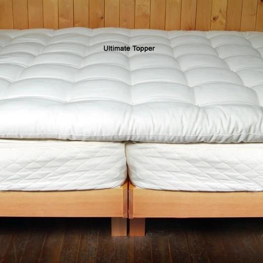 Organic Wool Mattress Topper Mattress - SHOO-FOO, the softness of bamboo