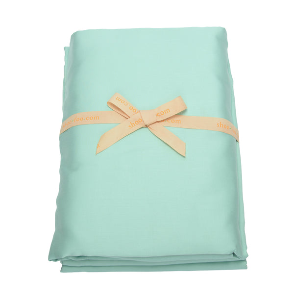 Organic Bamboo Duvet Cover in colour Ocean green