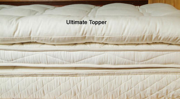 Organic Quilted Wool Mattress Topper Mattress Twin / Ultimate Topper - SHOO-FOO, the softness of bamboo