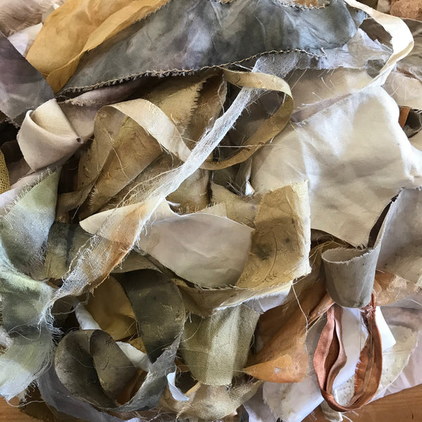 Eco dyed scraps by Rita Summers