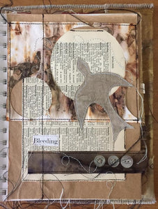 where to go from here - stitched art journal
