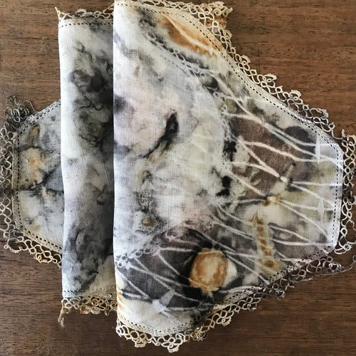 eco dyed vintage table runner