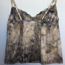 eco dyed lace-trimmed cami