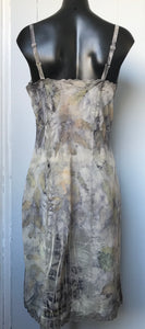 eco dyed lace-trimmed slip/dress 2