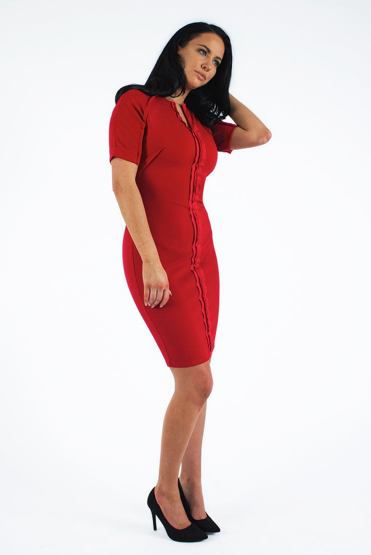 Red Tailor Midi Dress