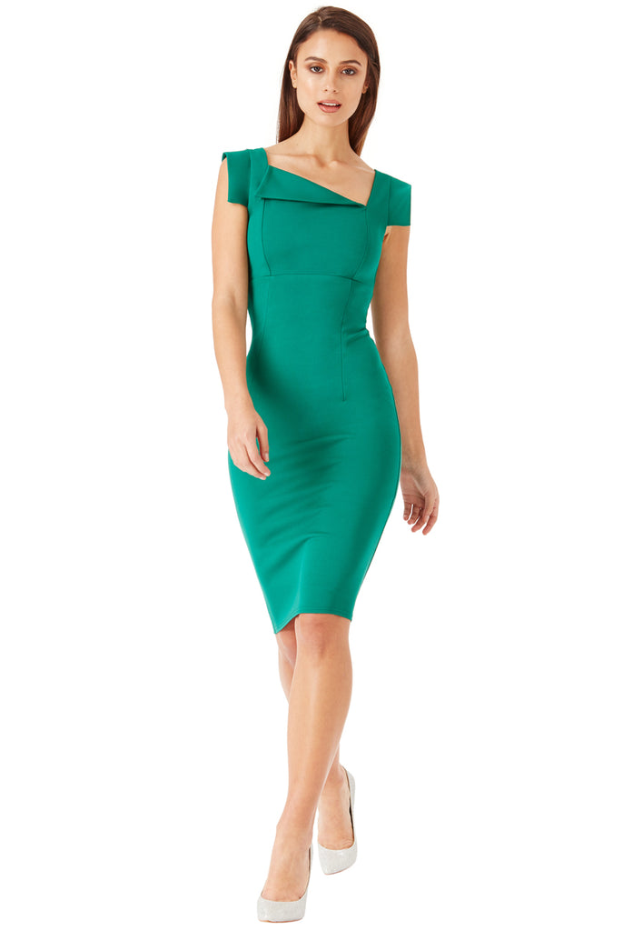 Emerald Front Envelople Fold Dress