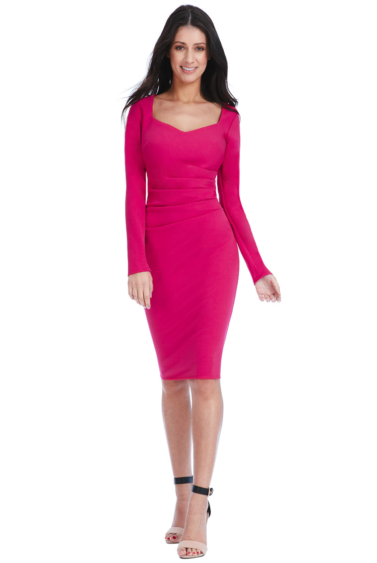 Pink Sweetheart Neckline Dress