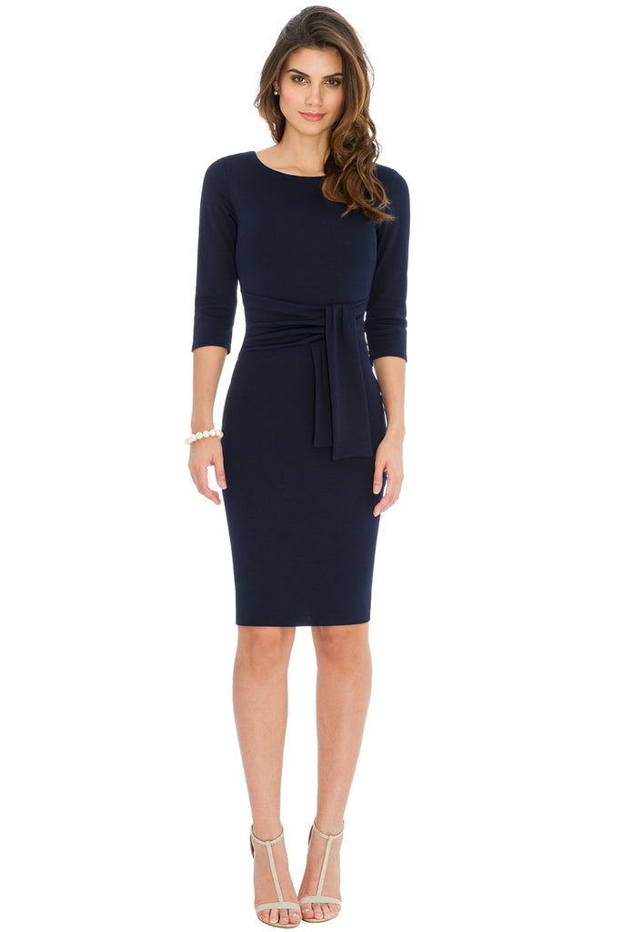 Navy Front Tie dress