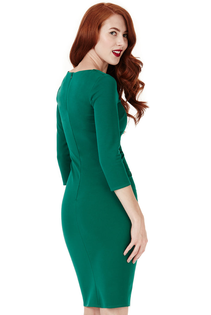 Emerald Tie Knot Detail Dress
