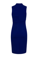 Royal Blue Deep V Neckline Dress