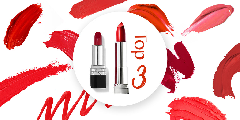 Top 3 Red Lipsticks