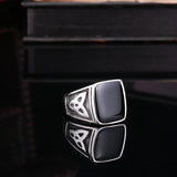 Retro Egypt Pattern Stainless Steel Ring For Man