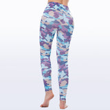 Colorful Pink Camouflage Leggings For Women