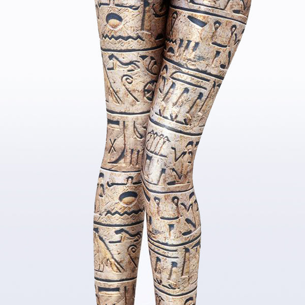 Ancient Egypt Writing Leggings Slim Fit