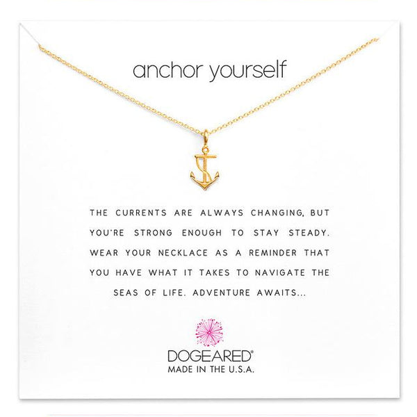 "Make A Wish Necklace: ""Anchor Yourself"""