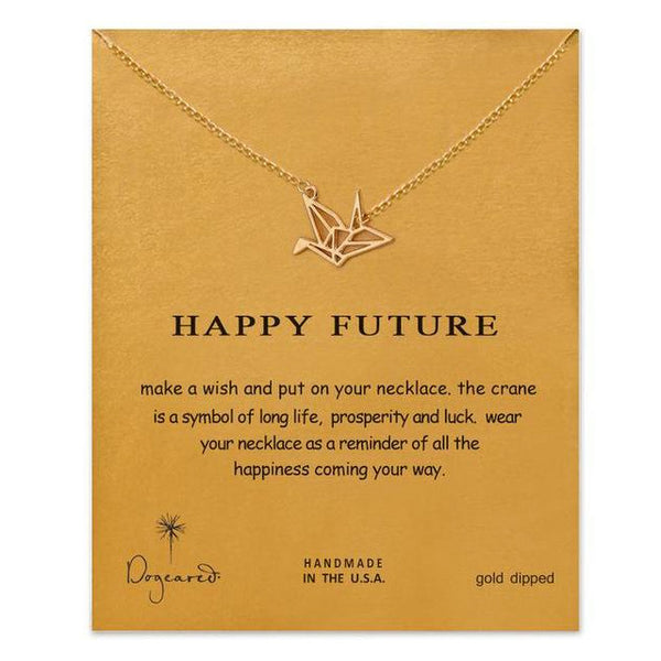 "Make A Wish Necklace: ""Happy Future"""