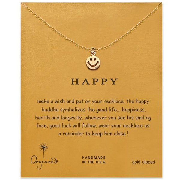 "(Limited Run) Make A Wish Necklace: ""Happy"""