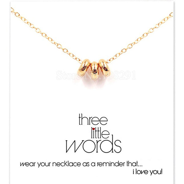 "Make A Wish Necklace: ""Three Little Words"""