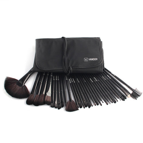 32-Piece Professional Makeup Brush Set with Pouch Case