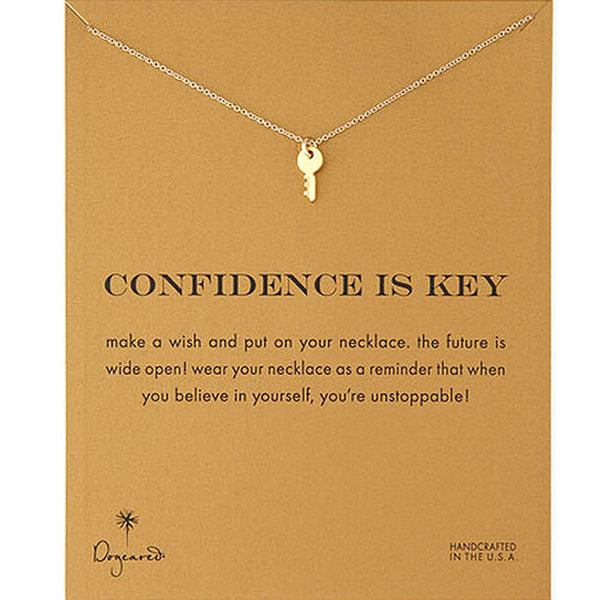 "Make A Wish Necklace: ""Confidence is Key"""