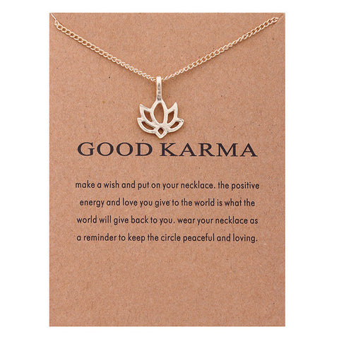 "Make A Wish Necklace: ""Good Karma"""