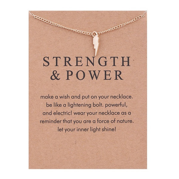 "Make a Wish Necklace: ""Strength & Power"" Lightning"