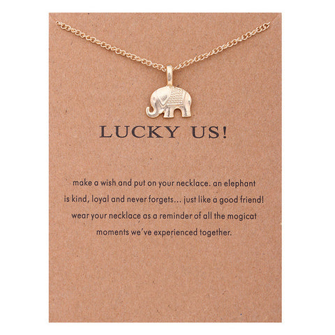 "Make A Wish Necklace: ""Lucky Us"""