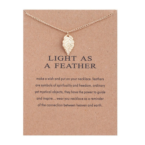 "Make A Wish Necklace: ""Light As A Feather"""